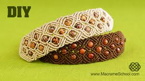 bracelet macrame patterns images Diamond square bracelet macrame tutorial jpg