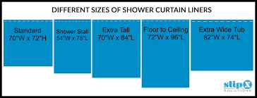 What Is Standard Shower Curtain Size How Is A Standard Or Shower Curtain Liner Guide