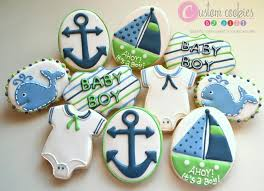anchor baby shower nautical baby shower custom cookies by cookie connection