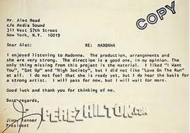 Society Letter Before Before They Were See Madonna S Rejection Letter From 1981