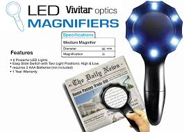 small magnifier with light vivitar two magnifier 6 led light medium 3x large 2 5x 681066939758