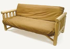 cedar rustic log futon sofa bed