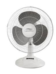 12 inch 3 speed oscillating fan small table fan in white color by lakewood table fan pinterest