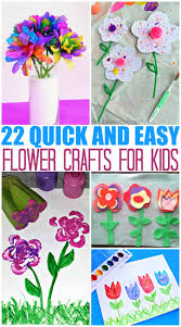 20 quick and easy flower crafts for kids the mom creative