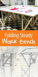 Woodworking Bench Plans Patterns by Diy Folding Workbench Workbench Ideas And Spaces
