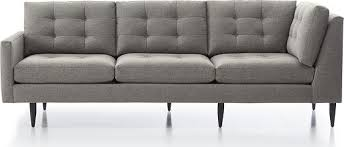 Who Makes Crate And Barrel Sofas Petrie Sectional Sofas Crate And Barrel