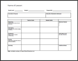 Teaching Plan Template Lesson Plan daily lesson plan template 1 www lessonplans4teachers for