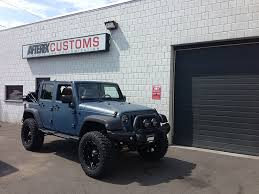 jeep gray blue jeep wrangler custom aires blue textured afterfx customs