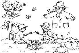 autumn picnic scarecrow coloring pages batch coloring