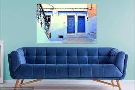 blue city morocco chair blue city chefchaouen wall art morocco street photography