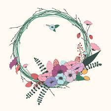 wallpaper bunga lingkaran flowers wreath floral free image on pixabay