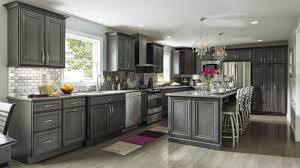 gray oak kitchen cabinets granite countertop black beige purple