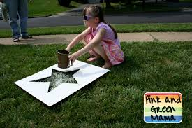 pink and green mama fourth of july fun sifted flour lawn stars