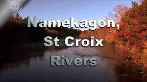 Namekagon River Map Canoe Kayak Camping Along The Namekagon St Croix Rivers Youtube