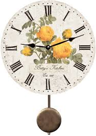 personalized yellow rose wall clock