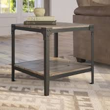 Wood And Metal End Table Metal End Tables Metal Coffee Console Sofa U0026 End Tables