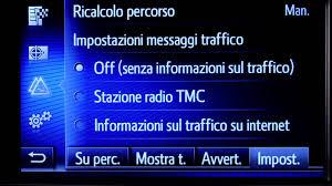 tmc toyota toyota touch 2 come usare il servizio toyota real time traffic