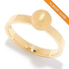 satin finish ring viale18k italian gold satin finish stack ring