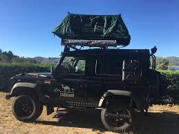 jeep wrangler overland tent landy che overland land rover defender 90 td5