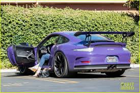 Caitlyn Jenner Runs Some Errands In Her Purple Porsche Photo