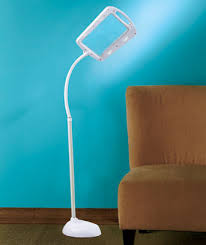 full page magnifier floor lamp the lakeside collection