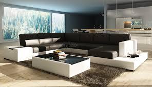 canapé grand canapé angle en cuir vachette blanc