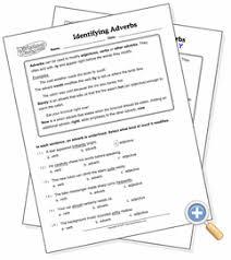 identifying adverbs worksheetworks com