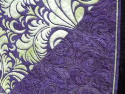 Beautiful Purple Motifs Ruby Blue Quilting Studio Back Home