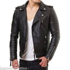 Fashion Pure Leather Black Biker Jacket Jk152