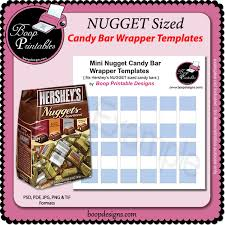 nugget mini candy bar template wraps by boop printable designs