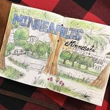 a quick urban sketch of a park in minneapolis minnesota i love