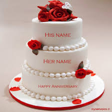 wedding wishes cake write name on anniversary cake and send it to friends
