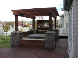 Privacy Pergola Ideas by Exotic Hardwood Decking And Pergola Supplied By Kayu Canada Inc
