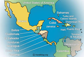 political map of central america and the caribbean political map of central america and the caribbean nations