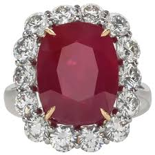 ruby diamond ring ten carat burma ruby diamond ring for sale at 1stdibs