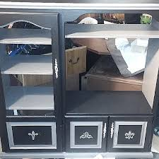 Shabby Chic Entertainment Center by Carousell의 Shabby Chic Refurbished Entertainment Center W Rollers