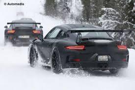 porsche 911 winter porsche 911 gt3 rs spied winter testing auto express