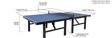 ping pong table playing area ping pong table size dimensions