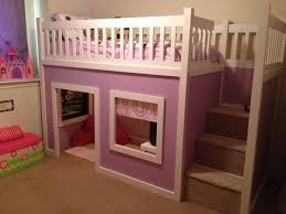 diy projects build a playhouse loft bed for your child