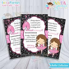 ballet invitations ballerina invitation dancer birthday party