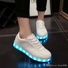 light shoes for mens led shoes men women black white color luminous shoes colorful