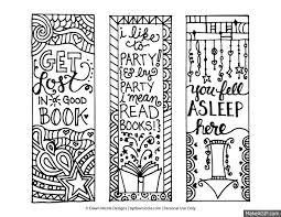 free printable coloring page bookmarks presentes criativos para