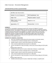 Sales Associate Job Duties Resume by Sales Rep Job Description Resume Example Customer Service