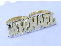 two finger name ring michael two finger name ring sweet 3 jewelry online store