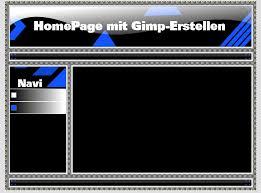 homepage designen homepage erstellen mit gimp gimp forum 3 0