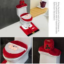 amazon com d fantix 3d nose santa toilet seat cover and rug set