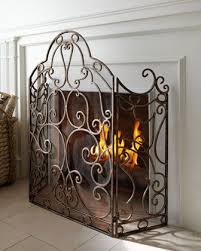 Hand Painted Fireplace Screens - 103 best fireplace screens images on pinterest fireplace screens