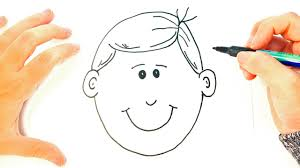how to draw a boy for kids boy face easy draw tutorial youtube