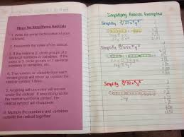 Simplifying Radicals With Variables Worksheet Math U003d Love Algebra 2 Interactive Notebook Pages Galore