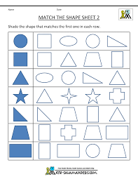 Printable Math Worksheets For Preschool Free Shape Worksheets Kindergarten